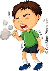 egyedül, fiú, dohányzás cigaretta
