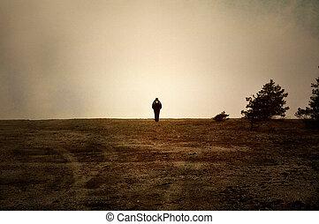 egyedül, kiköt