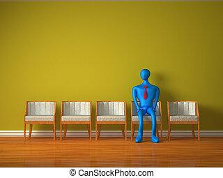 egyedül, személy, elismerés, várakozás, 3