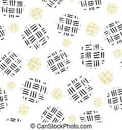 egyenes, fény, illustration., vektor, ismétlő, karika, szerkezet, seamless, handrawn, háttér., motívum
