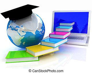 egyenes, globális, oktatás
