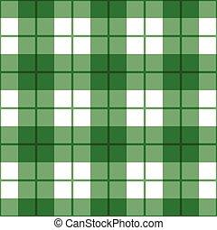 egyenes, pléd, motívum, alatt, zöld white