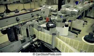 egyenes, termelés, termékek, szappan, kézbesítő