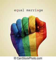 egyenlő, házasság