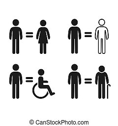 egyenlőség, jelkép, állhatatos