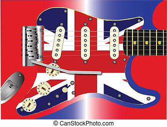 egyesítés, gitár, bubi