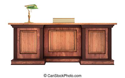egyesített, íróasztal
