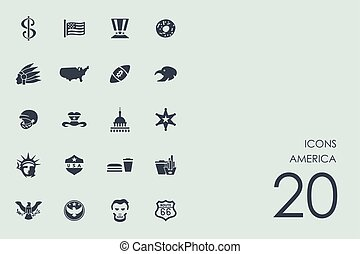 egyesült államok, állhatatos, egyesült, ikonok
