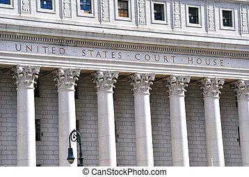 egyesült államok, épület, egyesült, bíróság