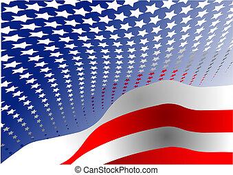egyesült államok, egyesült, –, poszter, rajzoló, szabadság, 4, nap, america., július, grafikus