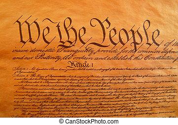 egyesült államok, egyesült, alkotmány