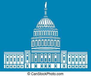 egyesült államok, egyesült, kongresszus székháza...