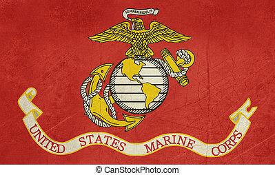 egyesült államok, grunge, egyesült, tengerészgyalogság
