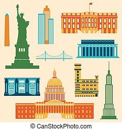 egyesült államok, Iránypont, egyesült, amerika