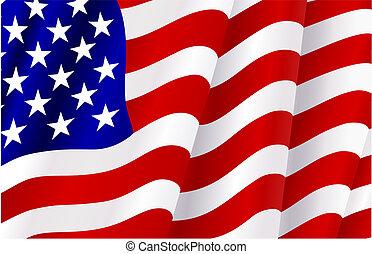 egyesült államok, lobogó, egyesült, amerika
