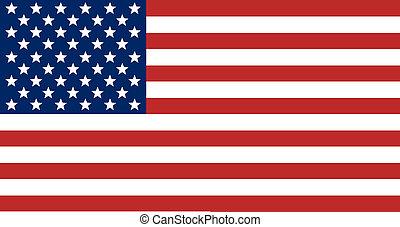 egyesült államok, lobogó, egyesült