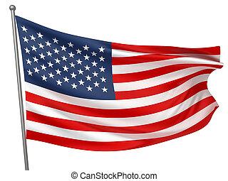 egyesült államok, nemzeti, egyesült, lobogó