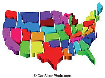 egyesült államok, térkép