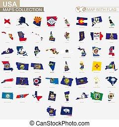 Usa térkép államok