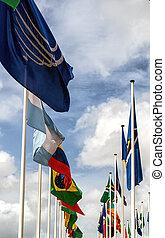 egyesült, zászlók