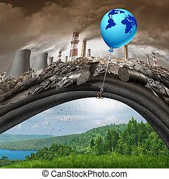 egyezmény, cserél, globális, klíma