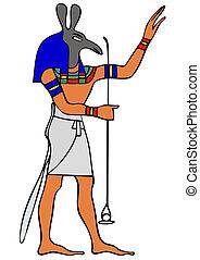 egyiptom, isten, ősi, -, seth