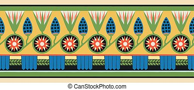 egyiptomi, nemzeti, ornaments.