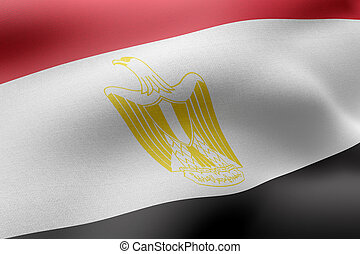 Egypt 3d flag