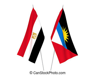 Egypt and Antigua and Barbuda flags - National fabric flags ...