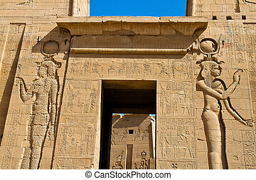 Egypt, Aswan, Philae Temple - The Philae Temple in Aswan in ...