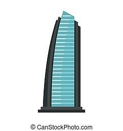 Egypt beach resort icon, flat style