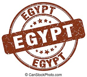 Egypt brown grunge round vintage rubber stamp