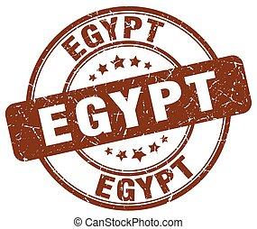 Egypt brown grunge round vintage rubber stamp