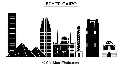Egypt, Cairo architecture vector city skyline, travel...