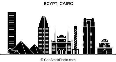 Egypt, Cairo architecture vector city skyline, travel...