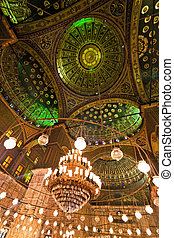 Egypt, Cairo. Mohammed Ali Mosque. Indoors.