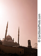 egypt, cairo. mohammed ali mosque. outside.