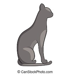 Egypt cat icon, cartoon style