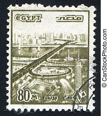 Bridge - EGYPT - CIRCA 1978: stamp printed by Egypt, shows...