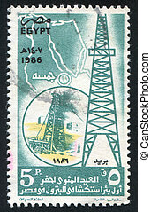 Tower - EGYPT - CIRCA 1986: stamp printed by Egypt, shows...
