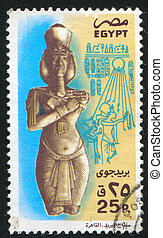 Pharaon - EGYPT - CIRCA 1988: stamp printed by Egypt, shows...