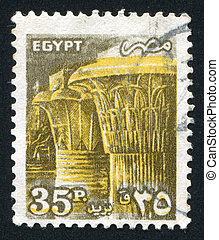 Temple of Karnak - EGYPT - CIRCA 1990: stamp printed by...