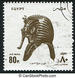 Tutankhamen - EGYPT - CIRCA 1994: stamp printed by Egypt, ...
