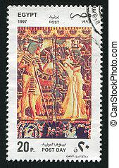 EGYPT - CIRCA 1997: stamp printed by Egypt, shows Pharaohs, circa 1997