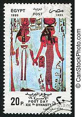 EGYPT - CIRCA 1999: stamp printed by Egypt, shows Pharaohs, circa 1999