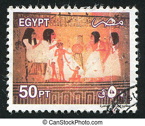 Pharaoh - EGYPT - CIRCA 2000: stamp printed by Egypt, shows...