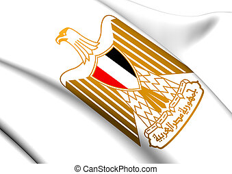 Egypt Coat of Arms. Close Up.