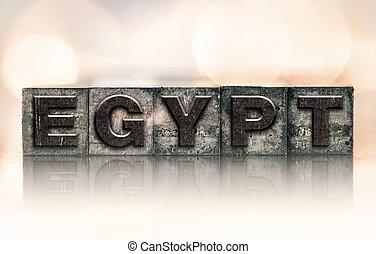 Egypt Concept Vintage Letterpress Type