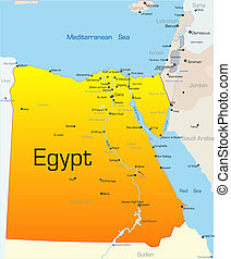 Egypt country - Abstract vector color map of Egypt country