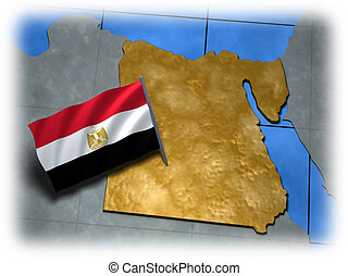 Egypt country with its flag